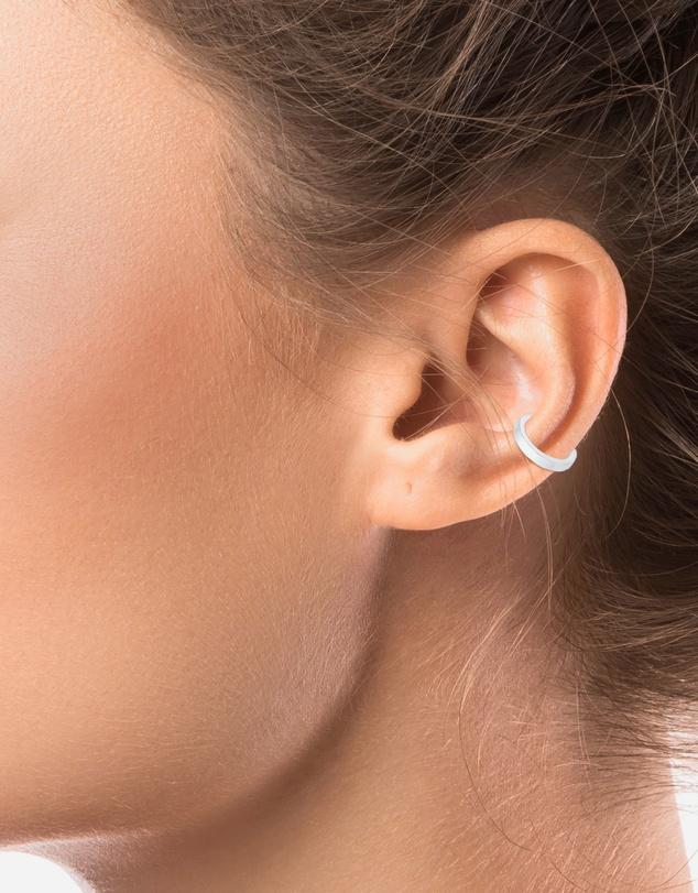 Women Earrings Earcuff Organic Look Minimal Basic adjustable from 925 Sterling Silver