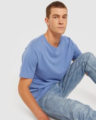 Jag - Organic Split Tee - T-Shirts & Singlets (Blue) Organic Split Tee
