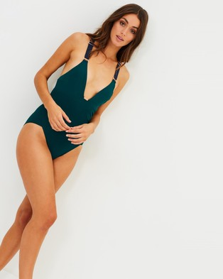 Ginger & Smart – Clara Cross Back One Piece – One-Piece Swimsuit Sea Green