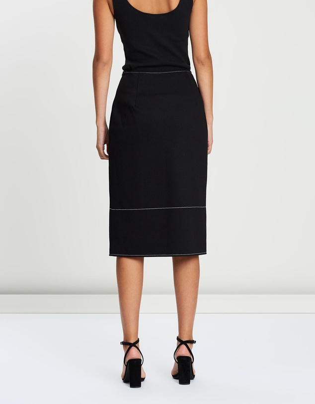 FRIEND of AUDREY - Zuri Contrast Stitching Skirt