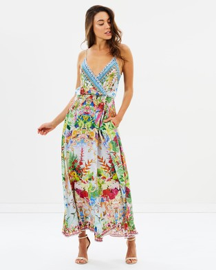 Camilla – Strappy Wrap Dress – Printed Dresses Miranda's Diary