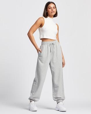 AERE Organic Cotton Sweat Pants - Sweatpants (Grey Marle)