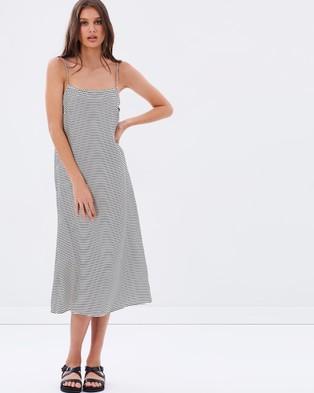 Primness – Riviera Slip – Dresses (Navy Stripe)