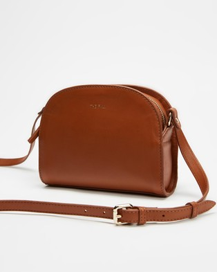 Fall The Label Half Moon Tan Cross Body Bag - Bags (Tan)