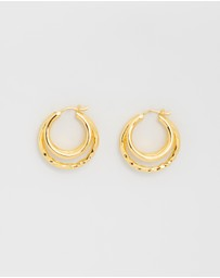 F + H JEWELLERY - California Triple Hoops