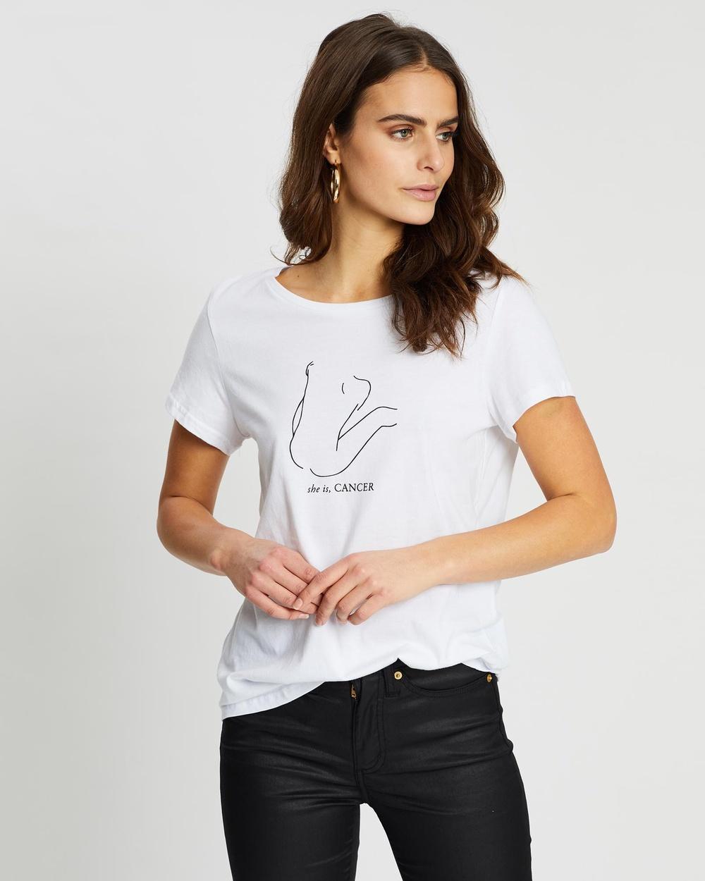 Runaway the Label Cancer Tee T-Shirts & Singlets White Australia