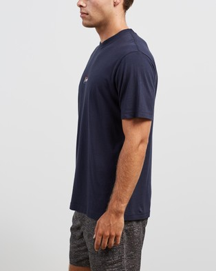 Afends Burning Retro Fit Tee - T-Shirts & Singlets (Deep Water)