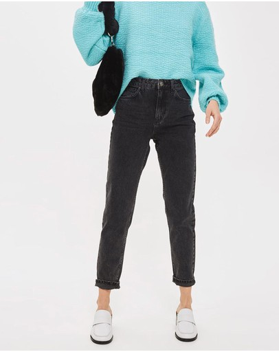 TOPSHOP - MOTO Washed Mom Jeans