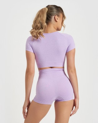 Core Trainer Charlie Crop Top - Crop Tops (Lilac)