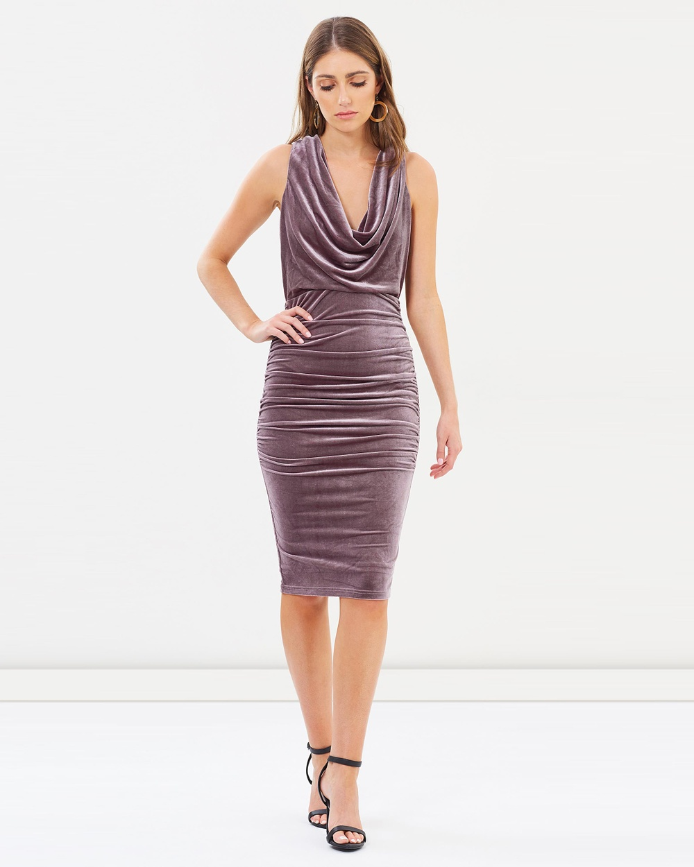 Fresh Soul Reputation Dress Bodycon Dresses Mauve Reputation Dress