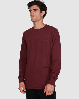 Element Gym Long Sleeve Tee - Long Sleeve T-Shirts (VINTAGE RED)