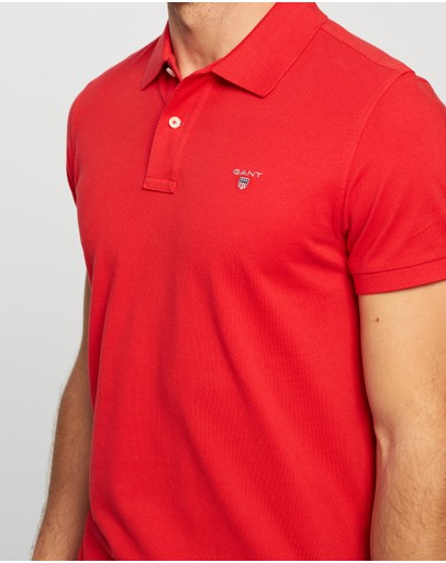 Gant Solid Pique Ss Polo Red