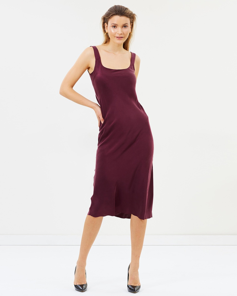 Bec & Bridge Linda Bias Midi Dress Dresses Plum Linda Bias Midi Dress