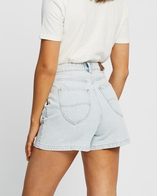 Lee High Relaxed Shorts - Denim (Mapo Blue)