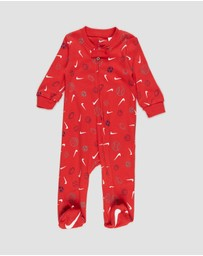 Nike - Sportball Logo Footed Coverall - Babies