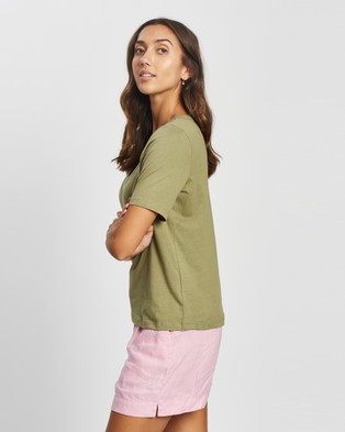 Ceres Life Organic U Neck Daily Tee - T-Shirts & Singlets (Dill)