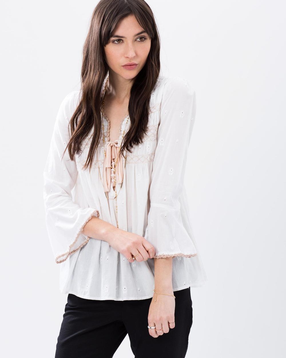 Kaja Clothing Greta Top Tops Off White Greta Top