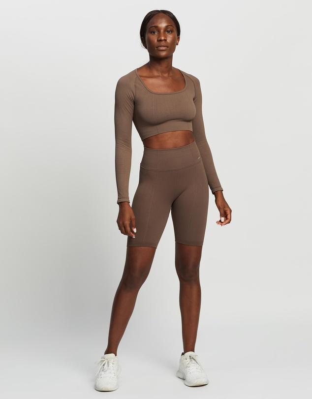 Women Luxe Seamless Crop Long Sleeve