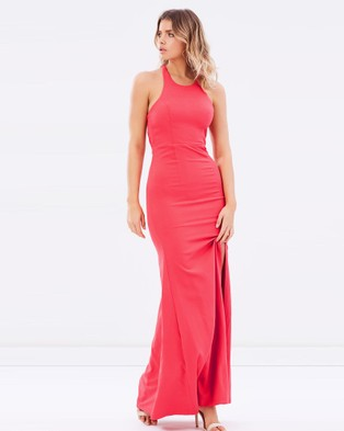 Bariano – Datura Fitted Fishtail Gown – Bridesmaid Dresses Brick