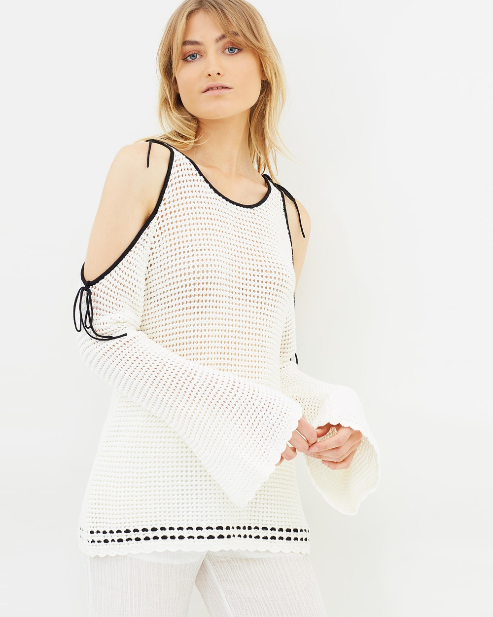 Hansen & Gretel Kelsey Crochet Top Tops White & Black Kelsey Crochet Top