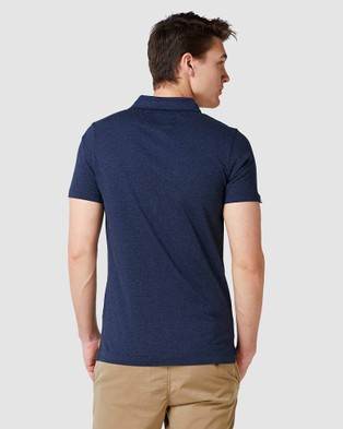Superdry Orange Label Jersey Polo - T-Shirts & Singlets (Midnight Blue Feeder)