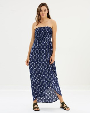 Rusty – Lantana Maxi Dress – Swimwear Blue