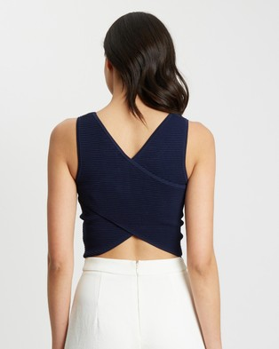 Tussah Livonia Knit Top - Cropped tops (Navy Blue)