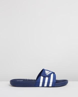 adidas Performance Adissage Slides   Men's - Slides (Dark Blue & Footwear White)