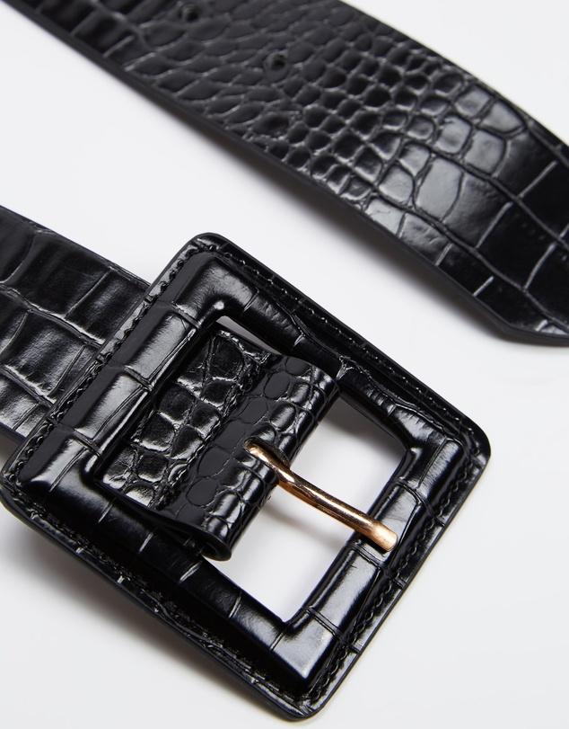 Women Tina Square Buckle Belt - 43mm