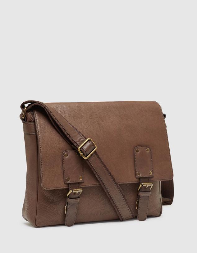 Men Phoenix Leather Messenger Bag