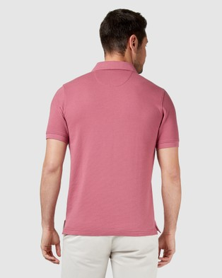Blazer Carter Textured Short Sleeve Polo - Shirts & Polos (Pale Pink)