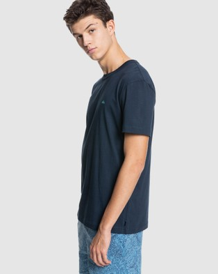 Quiksilver Mens Essentials Organic T Shirt - T-Shirts & Singlets (Navy Blazer)