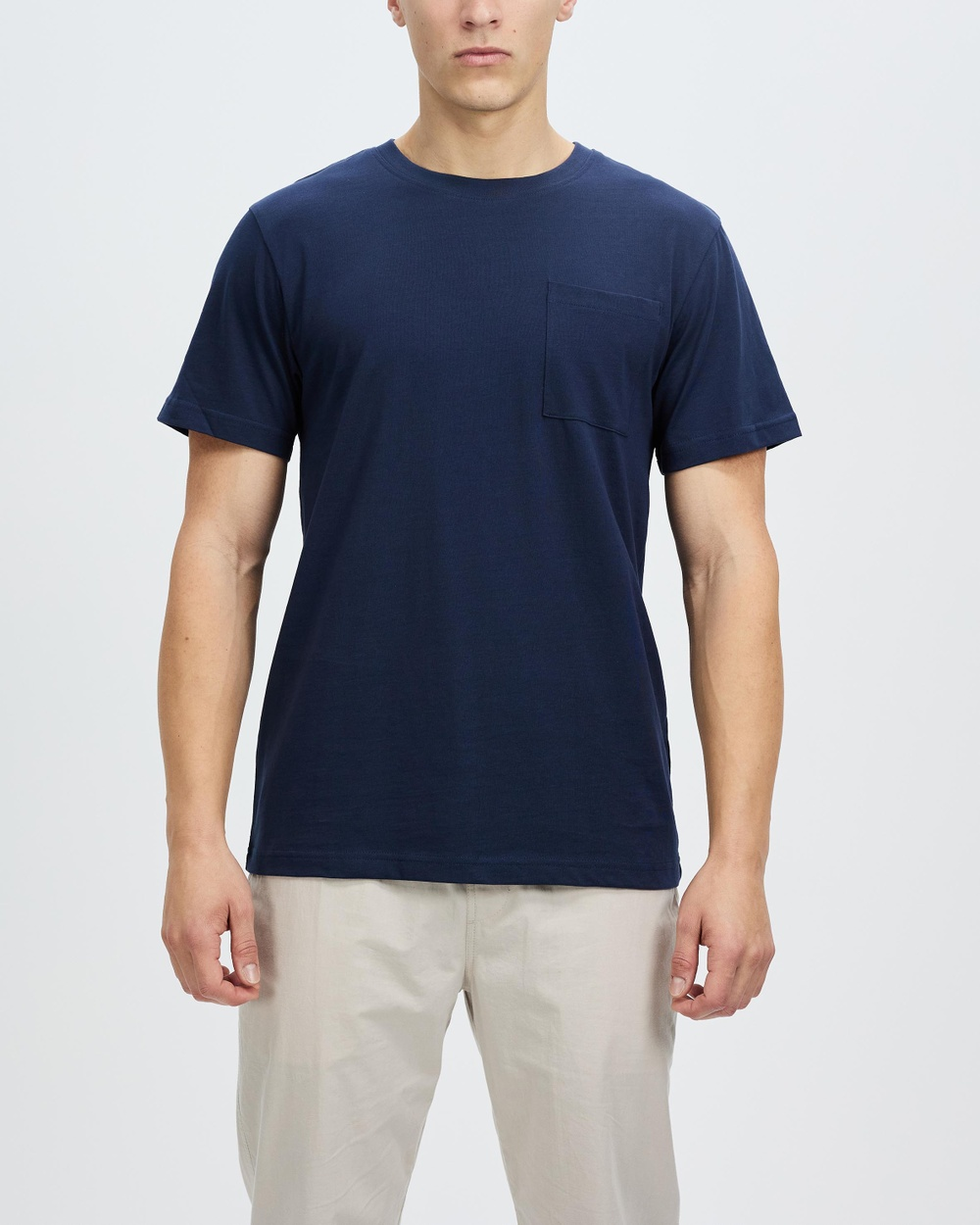 AERE Relaxed Organic Cotton Pocket Tee T-Shirts & Singlets Navy
