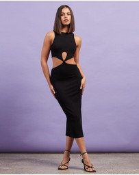 Dazie - Ibiza Twist Front Midi Dress