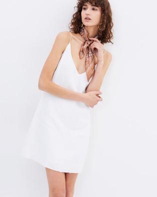 Isabelle Quinn – Yves Slip Dress White