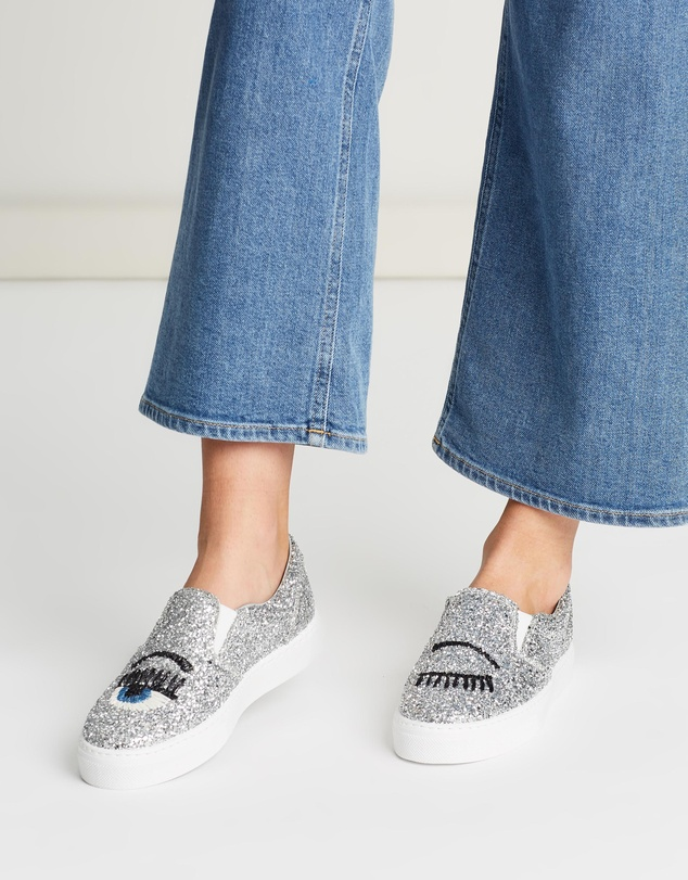 Chiara Ferragni - Glitter Flirting Slip-On Sneakers