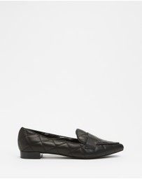 Atmos&Here - Cass Quilted Leather Loafers