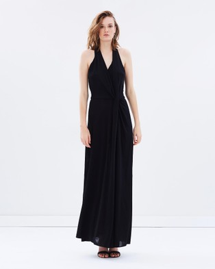 Bianca Spender – Jersey Entwined Long Dress Black