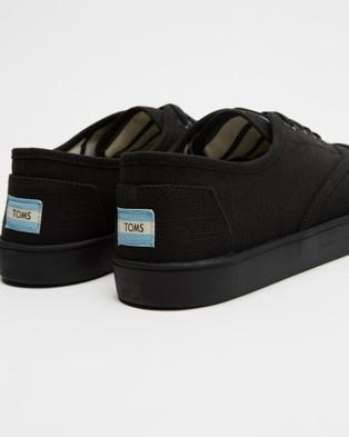 TOMS Cordones Sneakers   Men's - Sneakers (Black on Black)