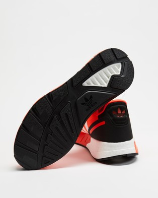 adidas Originals - ZX 1K Boost Sneakers   Men's - Lifestyle Sneakers (Solar Red, White & Core Black) ZX 1K Boost Sneakers - Men's