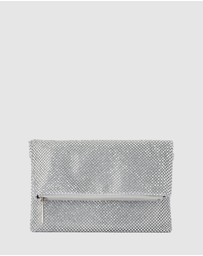 Olga Berg - Nicole Crystal Mesh Shoulder Bag