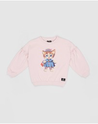 Rock Your Kid - Shopping Day Puff Sleeve Sweatshirt - Kids