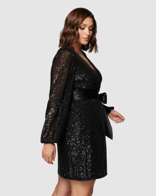 Forever New Curve Frieda Curve Sequin Mini Dress - Dresses (Black)