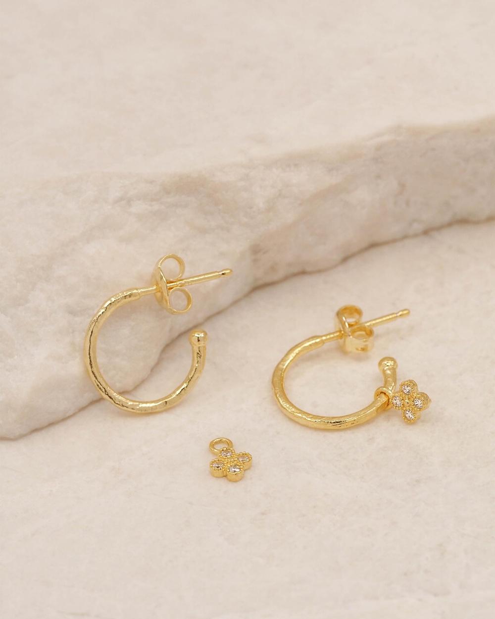 By Charlotte Luminous Gold Hoop Earrings Jewellery Gold