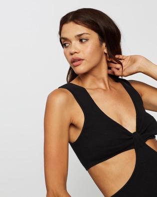 AERE Cutout Knit Dress - Bodycon Dresses (Black)