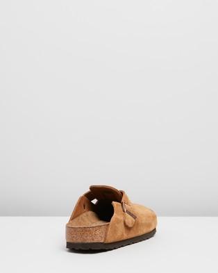 Birkenstock Boston Suede SFB   Narrow   Women's - Casual Shoes (Mink)