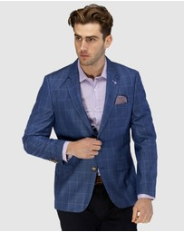 Brooksfield - Textured Window Pane Blazer