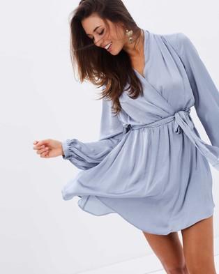 Bardot – Miranda Wrap Dress – Dresses (Dove)