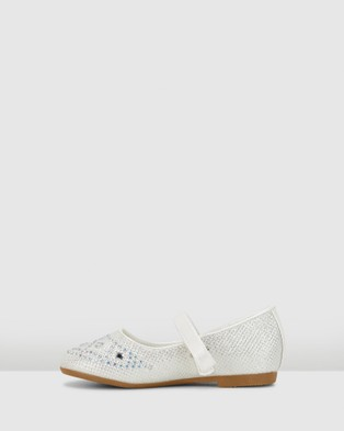 Candy Coco Princess - Flats (White Pearl)