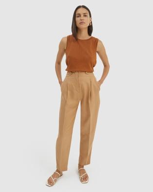 SABA Lara Linen Pants - Pants (Spice)